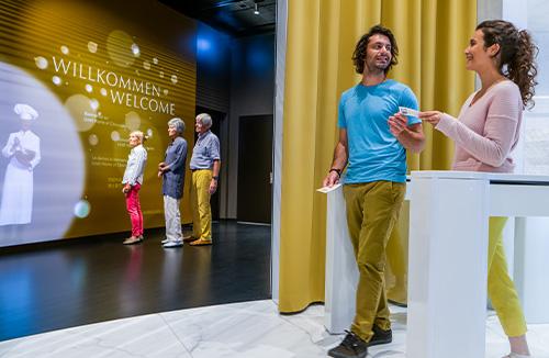 Der Eingang zur multimedialen Schokoladentour