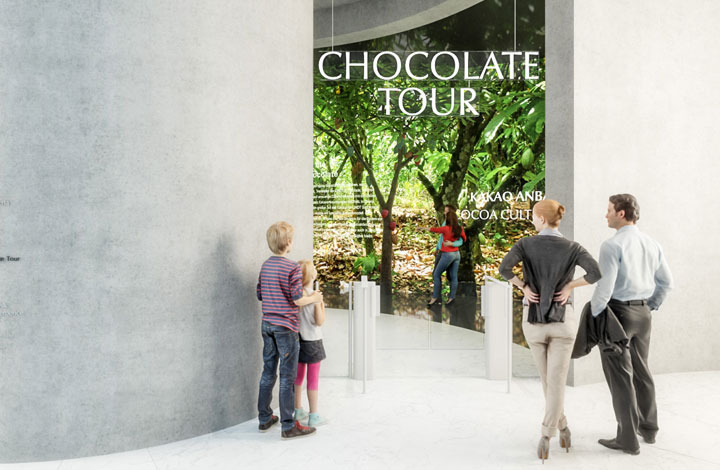 Accès au circuit multimédia autour du chocolat