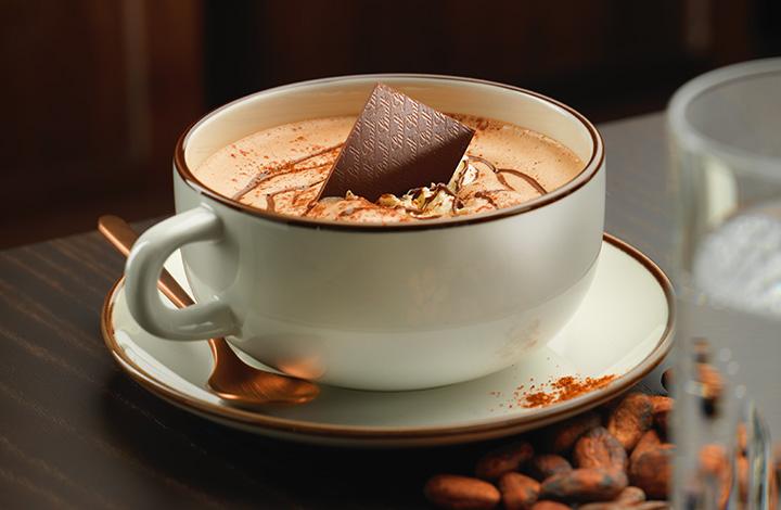 Notre ChocoChino très apprécié au Café