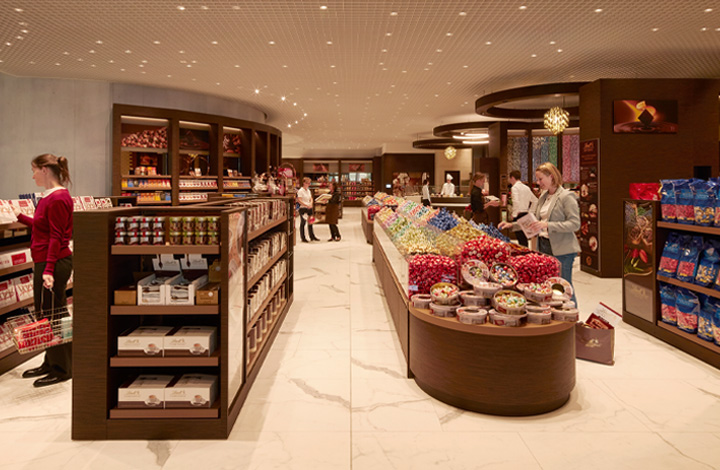 The Lindt Chocolate Shop, spread over 500 m2