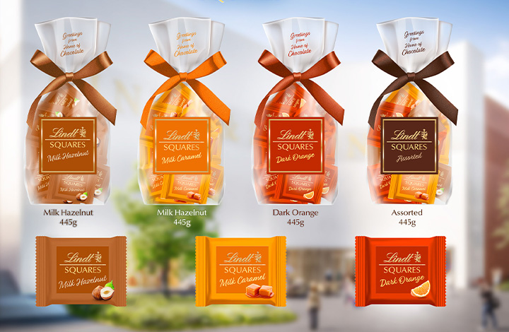 Lindt Squares were developed specially for the Lindt Home of Chocolate