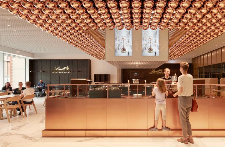 Das Café im Lindt Home of Chocolate lädt zum Verweilen ein