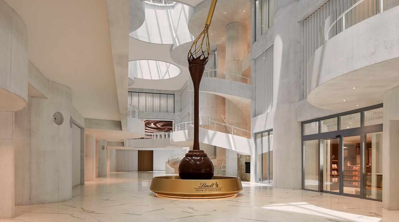 Der Lindt Schokoladenbrunnen