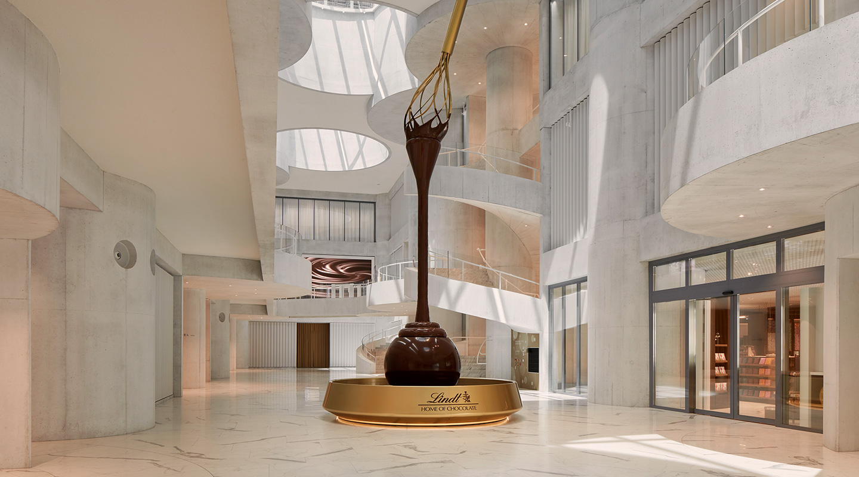 La Lindt fountain chocolate